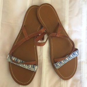 NEW MISSONI Leather Strappy Sandals 41